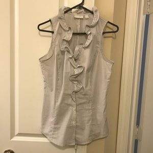 Sleeveless button down blouse